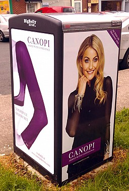Canopi Smart Bin Advertising