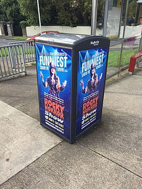 Rocky Horror Show Smart Bin Advertising